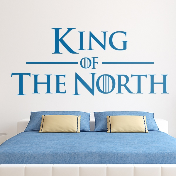 Stickers muraux: Tête de lit King of the North