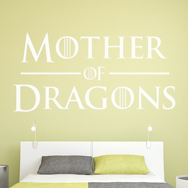 Stickers muraux: Tête de Mother of Dragons