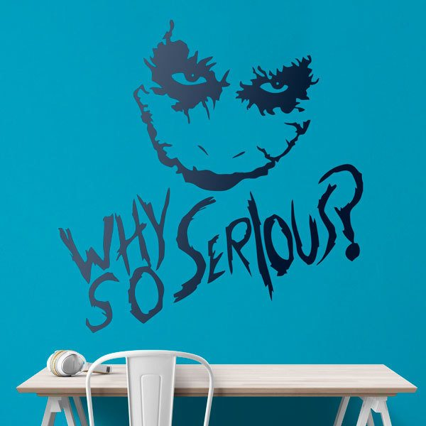 Stickers muraux: Why so serious? (Joker, Batman)