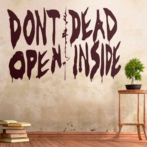 Stickers muraux: Don't open, dead inside (Walking dead)