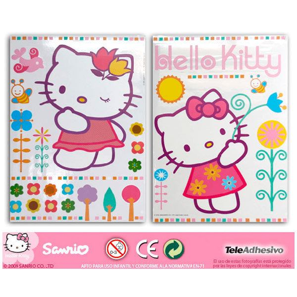 Stickers pour enfants: hello kitty 2 68x96 cm