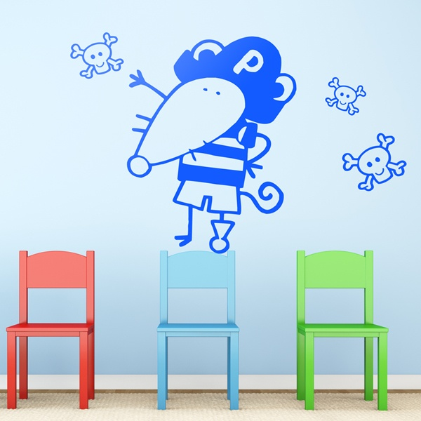 Stickers pour enfants: Patte de rat pirate