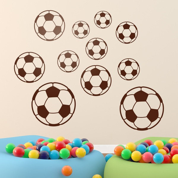 Stickers pour enfants: Kit ballons de football