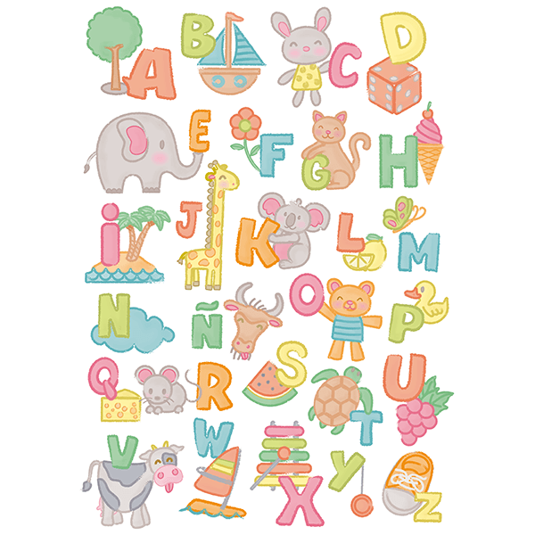 Stickers muraux: Alphabet enfant