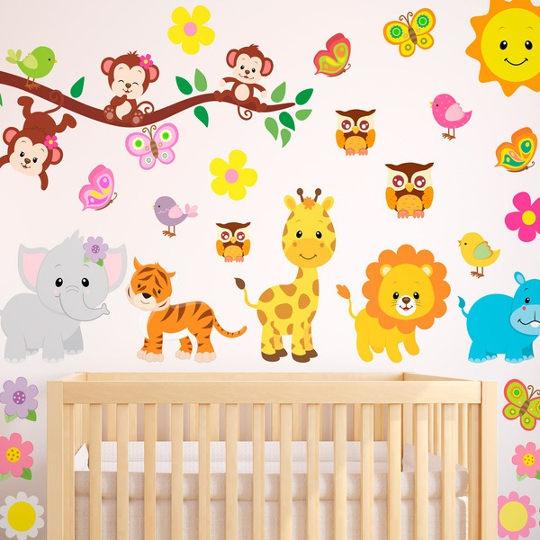 Stickers pour enfants: Kit animaux de la jungle 1