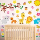 Stickers pour enfants: Kit animaux de la jungle 3