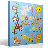 Stickers pour enfants: Kit animaux de la jungle 4