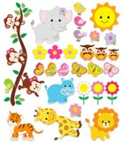 Stickers pour enfants: Kit animaux de la jungle 5