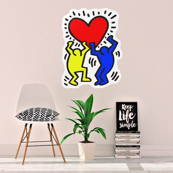 Stickers muraux: Holding a heart (couleur)