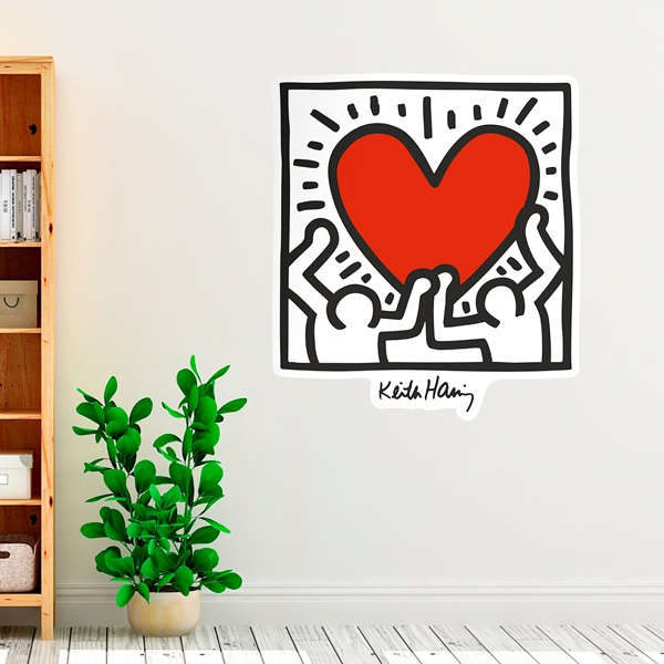Stickers muraux: Red Heart (couleur)