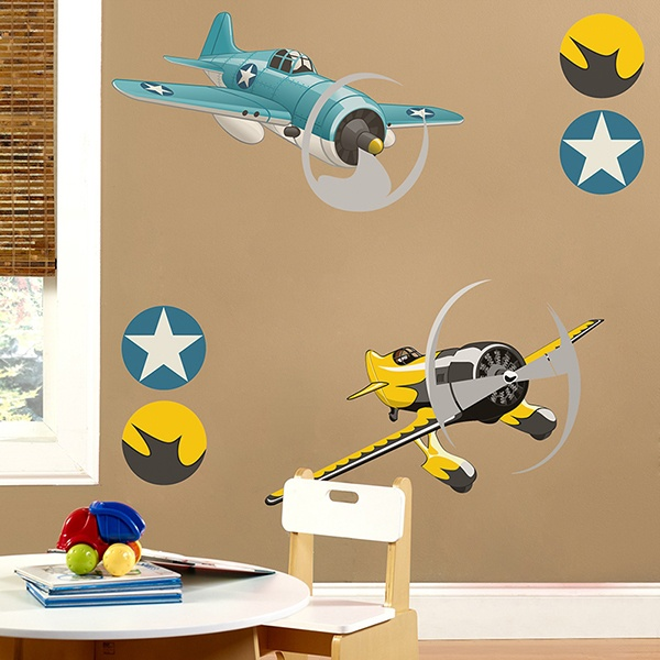 Stickers pour enfants: Avion acrobatique