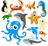 Stickers pour enfants: Kit Aquarium de poulpe 4