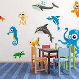 Stickers pour enfants: Kit Aquarium de poulpe 5