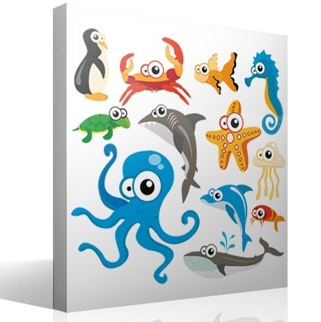 Stickers pour enfants: Kit Aquarium de poulpe