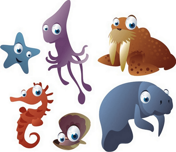 Stickers pour enfants: Kit Aquarium Marin 0