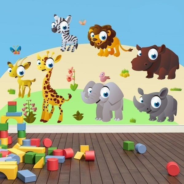 Stickers pour enfants: Kit Animaux de la jungle