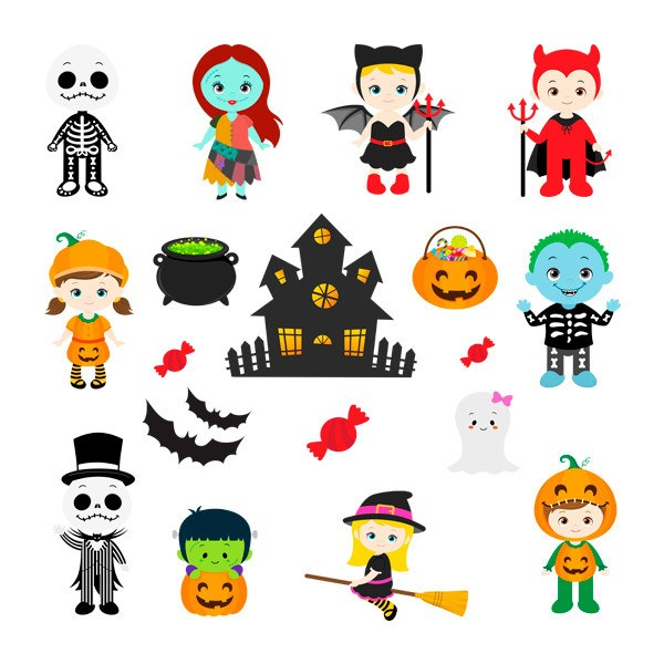 Stickers muraux: Kit Halloween