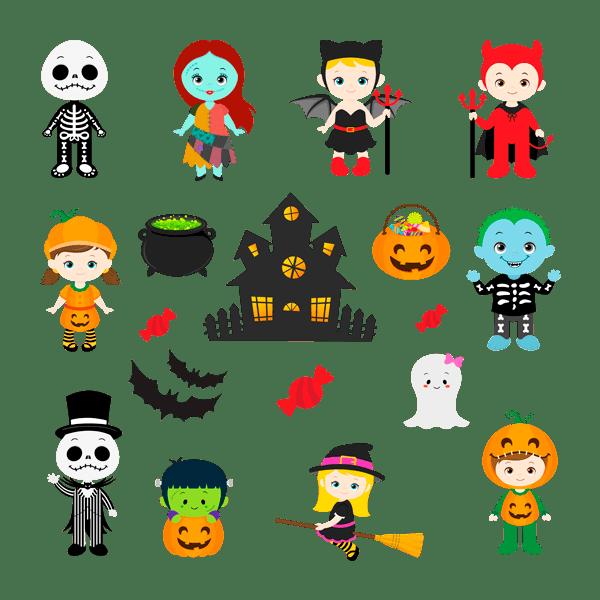 Stickers muraux: Kit Halloween