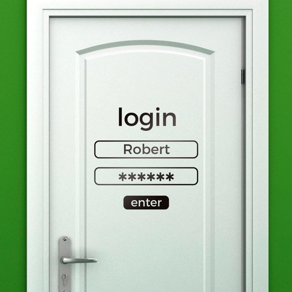 Stickers muraux: Login d