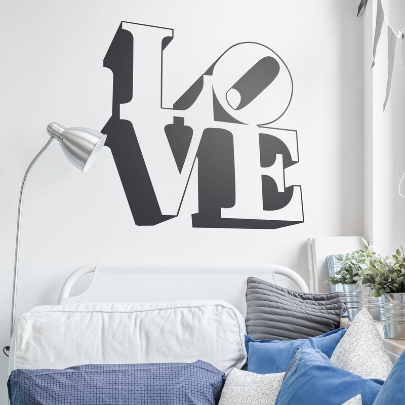 stickers muraux love design 3. Black Bedroom Furniture Sets. Home Design Ideas