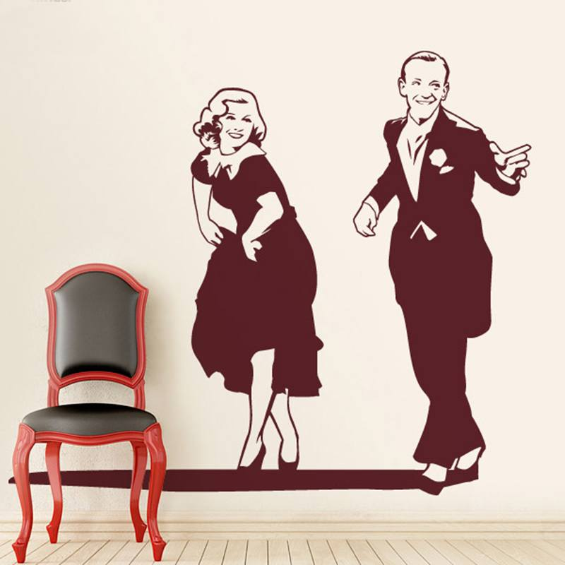 Stickers muraux: Fred Astaire et Ginger Rogers