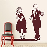 Stickers muraux: Fred Astaire et Ginger Rogers 2