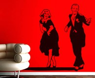 Stickers muraux: Fred Astaire et Ginger Rogers 3