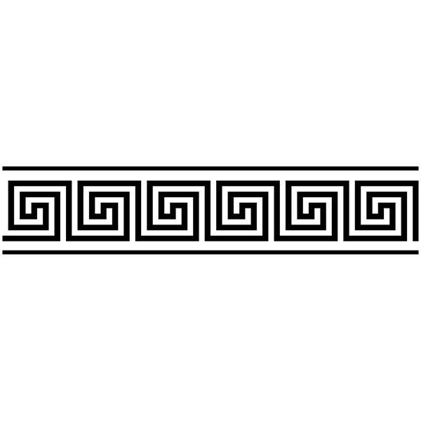 sticker frise murale grecque. Black Bedroom Furniture Sets. Home Design Ideas