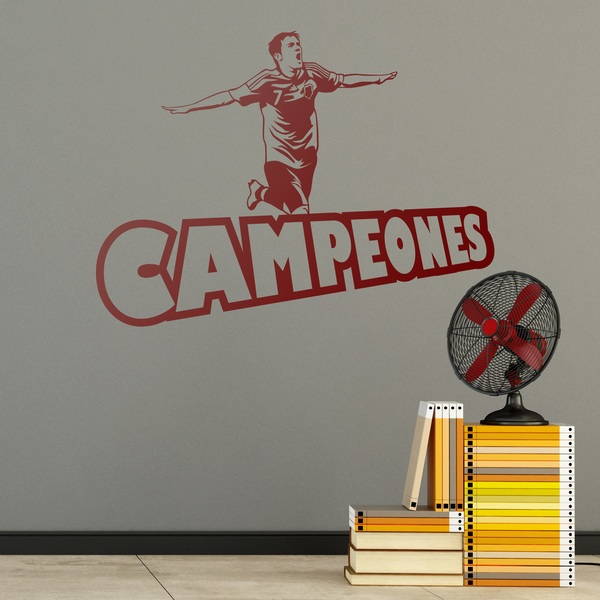 Stickers muraux: Champions