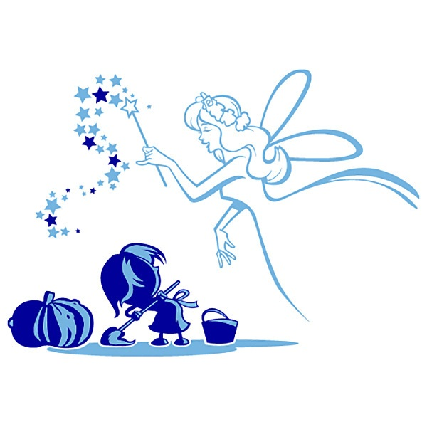 Stickers muraux: Cendrillon