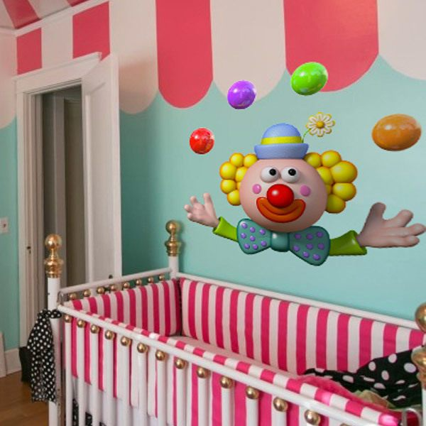 Stickers pour enfants: Clown