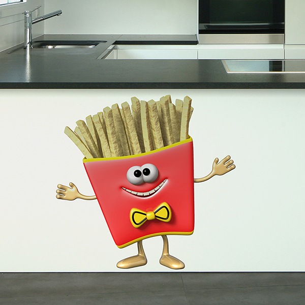 Stickers pour enfants: Portion de Frites