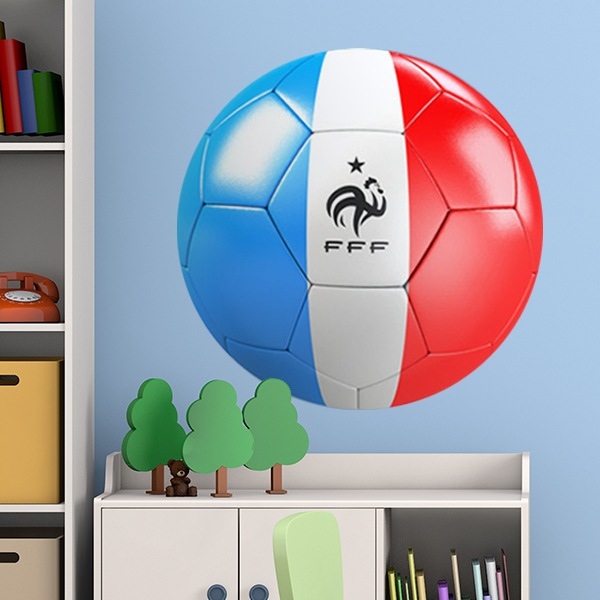Stickers pour enfants: Ballon de football drapeau de la France