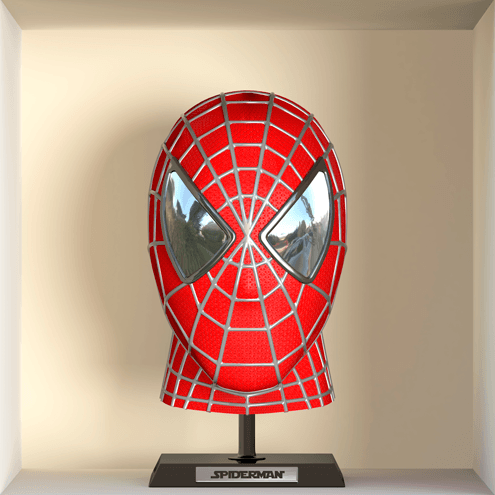 Stickers muraux: Spiderman buste niche 0