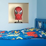 Stickers muraux: Spiderman buste niche 5
