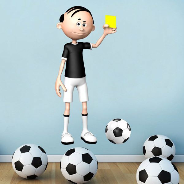 Stickers pour enfants: Arbitre de football