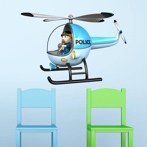 Stickers pour enfants: Police Helicopter