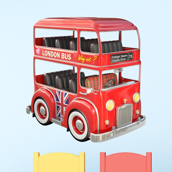 Stickers pour enfants: bus de Londres