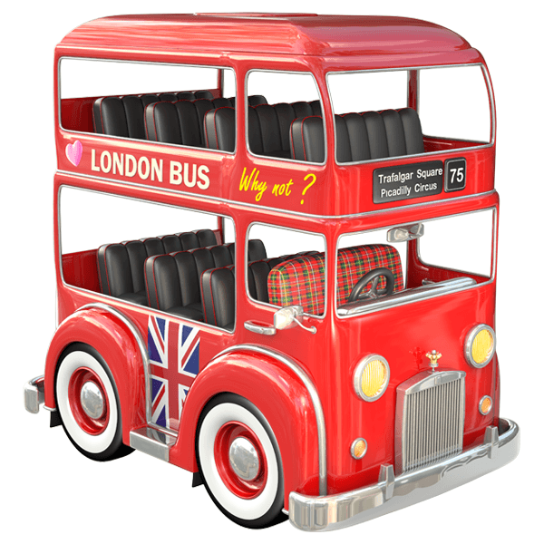 Stickers pour enfants: bus de Londres 0