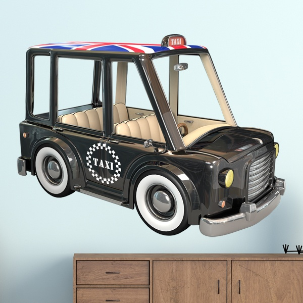 sticker mural enfant taxi londres. Black Bedroom Furniture Sets. Home Design Ideas