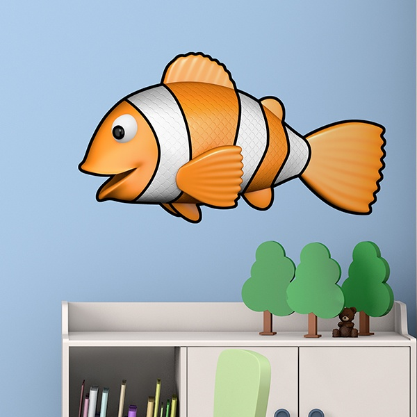 Stickers pour enfants: Poisson clown nageant