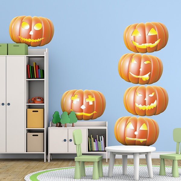 Stickers muraux: Halloween citrouille Kit