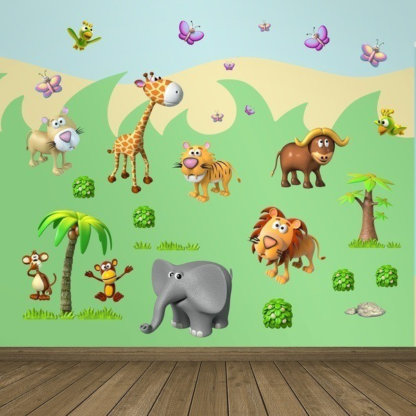 Stickers pour enfants: Animaux de la jungle africaine