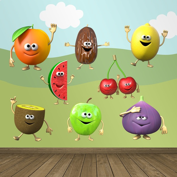 Stickers pour enfants: Kit de fruits