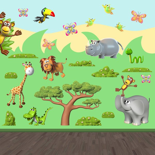 Stickers pour enfants: Animaux de la jungle africaine 2