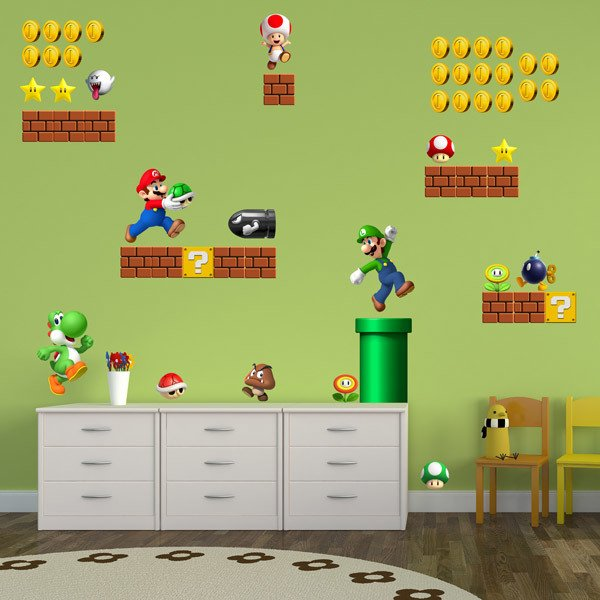Stickers pour enfants: Kit 60X Super Mario Bros