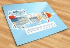 Stickers pour enfants: Fusée dans l 5