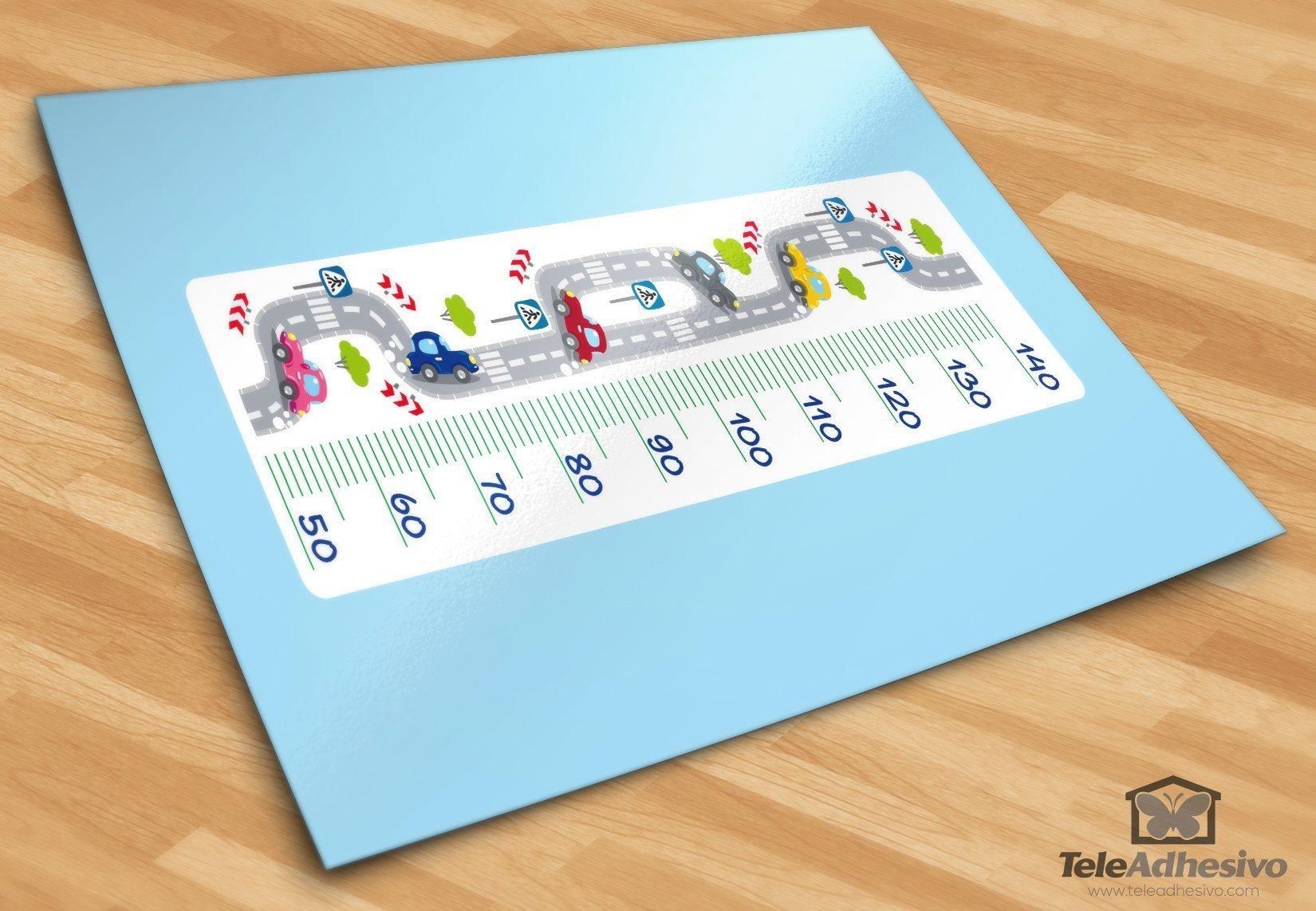 Stickers pour enfants: Compteur route et la voiture