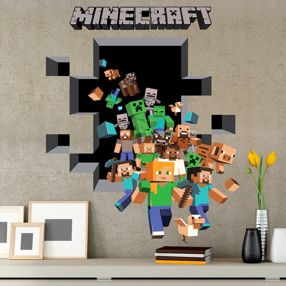 Stickers Muraux: Minecraft 3D 2 Part 37