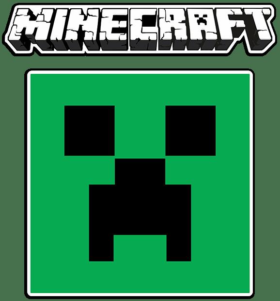 Stickers muraux: Sticker Minecraft lettres et logo